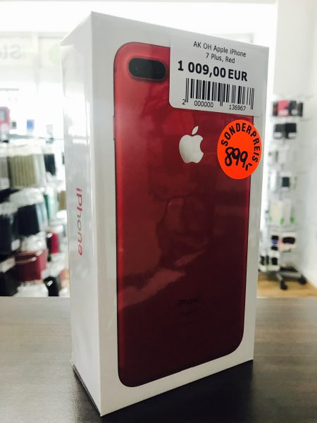 aktion 1 st ck iphone 7 plus 128gb in rot statt um 1009. Black Bedroom Furniture Sets. Home Design Ideas
